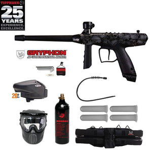Tippmann Gryphon FX Gold Paintball Gun Package - Skull