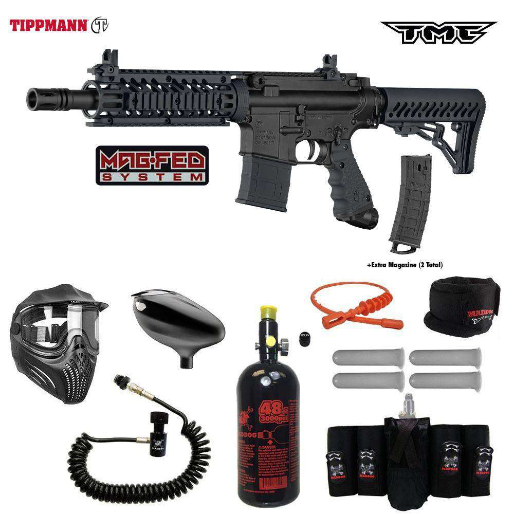 Tippmann TMC Package MAGFED  Elite Remote HPA Paintball Gun Kit