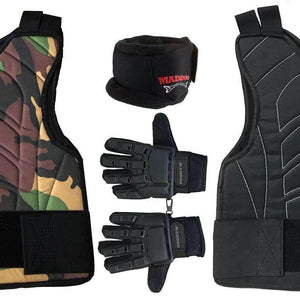 Maddog Full-Finger Pro Trio Padded Chest Protector Combo Package