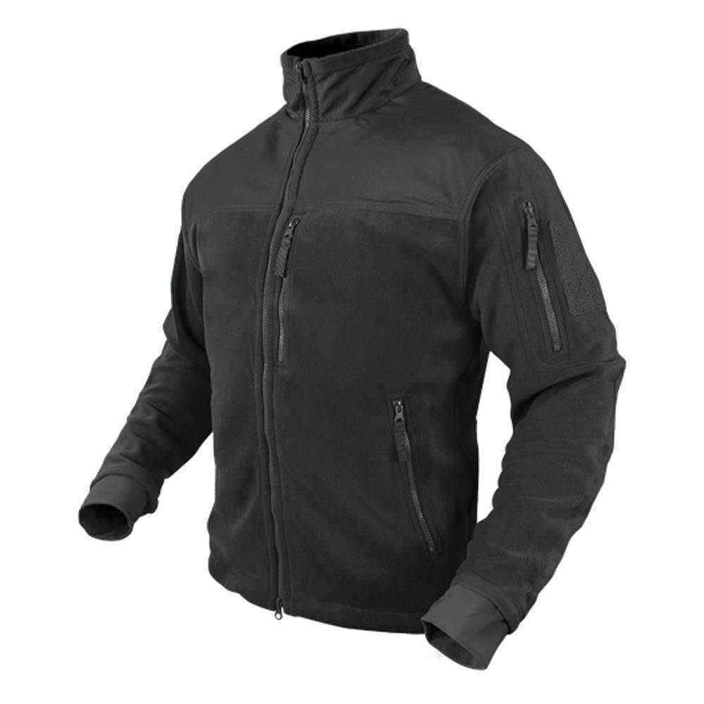 CLEARANCE - Condor Tactical Alpha Fleece Jacket - Black - XX-Large - OPEN BOX