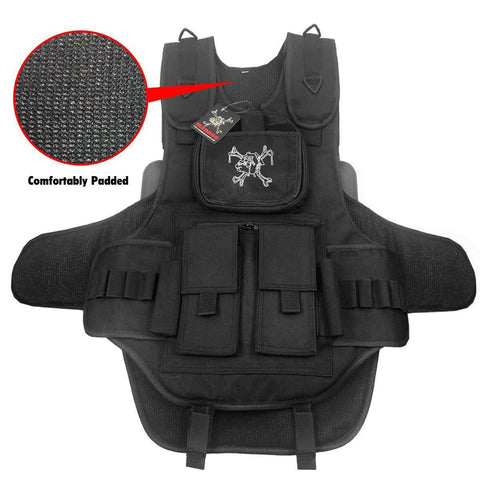 Maddog Tactical Vest with Pods & Standard Remote Coil Paintball Package