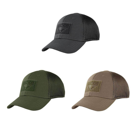 48251b403f0 Condor Tactical Mesh Flex CapThe Condor Flex Mesh cap was made to protect  you from the elements while still providing that stylish and distinct look.