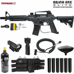Maddog Tippmann Bravo One Elite Tactical Red Dot Paintball Gun Package