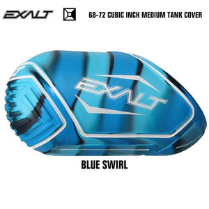 Exalt 68-72 Cubic Inch Compressed Air HPA Paintball Tank Cover - Blue Swirl - PaintballDeals.com