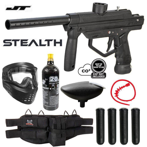 Maddog JT Stealth Semi-Automatic .68 Caliber Paintball Gun Starter Package