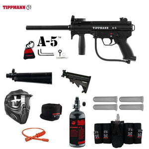 Tippmann A-5 Maddog Elite HPA Paintball Gun Package