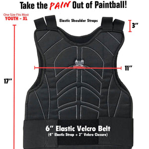 Maddog Padded Paintball & Airsoft Chest Protector - PaintballDeals.com