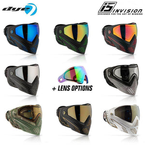 Dye I5 Paintball Mask Goggles with GSR Pro Strap. Choose your upgrade lens