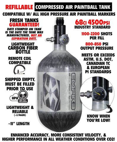 Empire Paintball BASICS 68/4500 High Pressure Carbon Fiber Compressed Air Tank