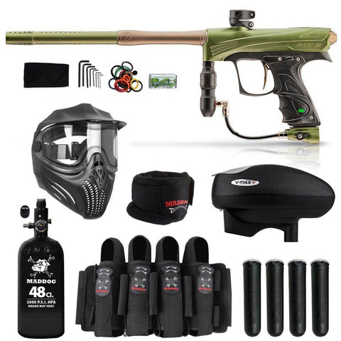 Maddog Dye Rize CZR Elite HPA V-Max+ Paintball Gun Package
