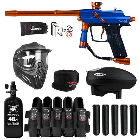 Maddog Azodin Blitz 4 Paintball Gun HPA V-Max+ Accessory Combo Package