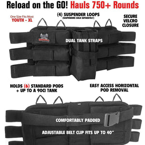 CLEARANCE - Maddog 6+1 Paintball Harness - OPEN BOX