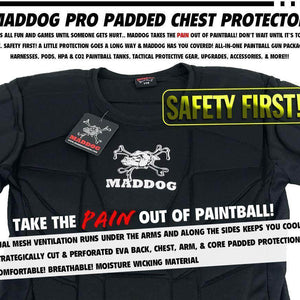 CLEARANCE - Maddog Sports Pro Padded Chest Protector Shirt - OPEN BOX
