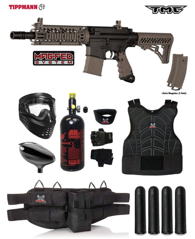 Tippmann TMC MAGFED Starter Protective HPA Paintball Gun Package