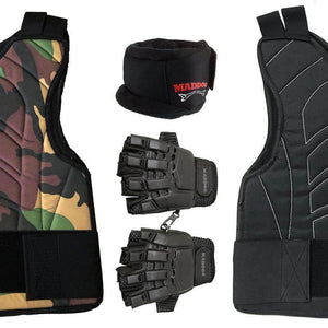 Maddog Pro Trio Padded Chest Protector Combo Package