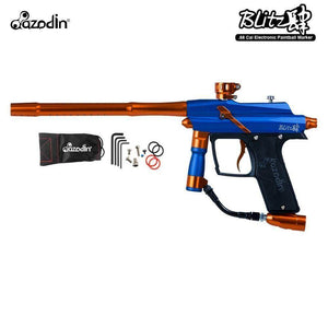 Azodin Blitz 4 Electronic .68 Caliber Paintball Gun - Blue / Orange - PaintballDeals.com