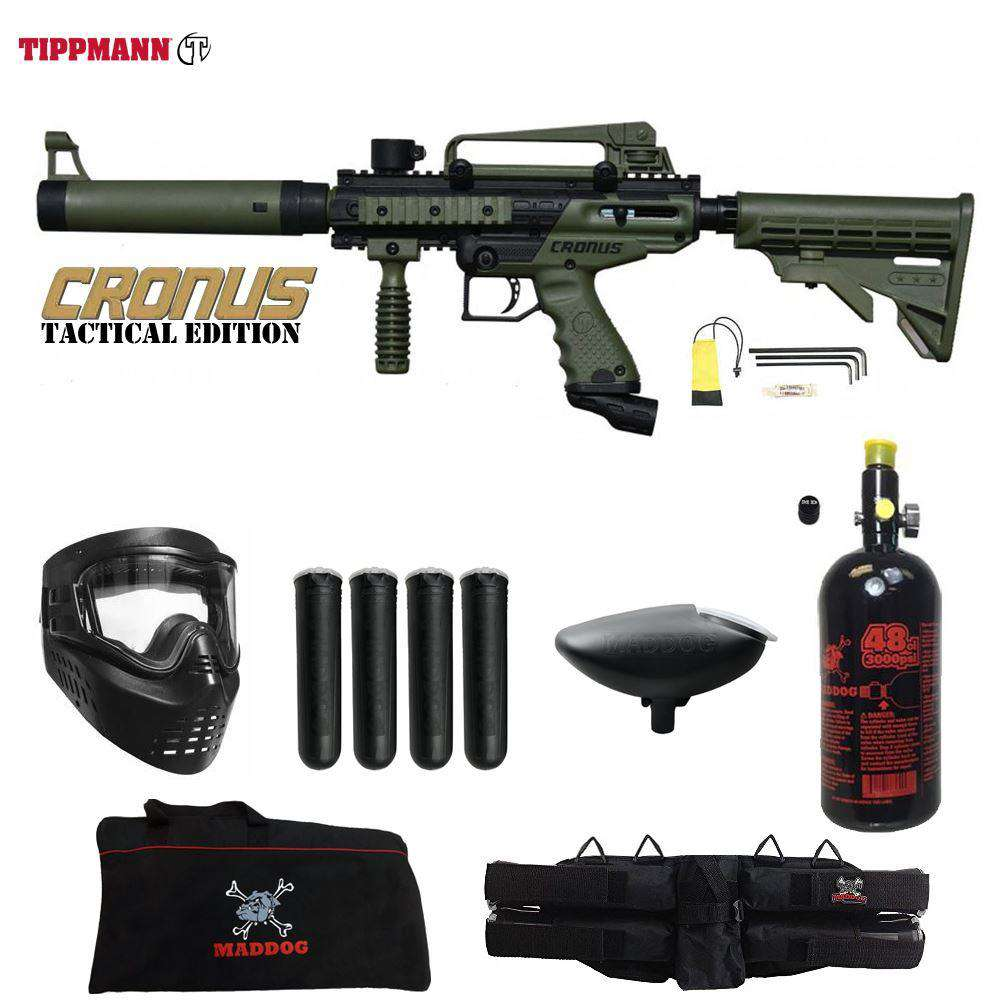 Tippmann Cronus Tactical Beginner HPA Paintball Gun Starter Package