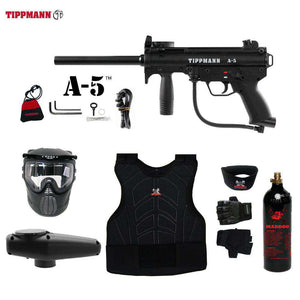 Tippmann A-5 Beginner Protective CO2 Paintball Gun Package