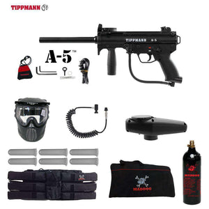Tippmann A-5 Corporal Paintball Gun Package