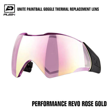 Push Unite Paintball Goggle Mask Thermal Lens w/ Protective Case - Performance REVO Rose Gold - PaintballDeals.com