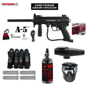 Tippmann A-5 Expert Paintball Gun Package