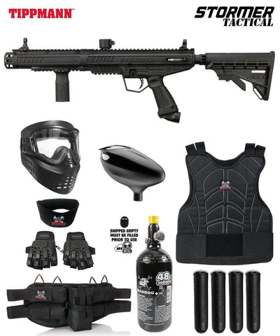 Maddog Tippmann Stormer Protective HPA Paintball Gun Marker Starter Package