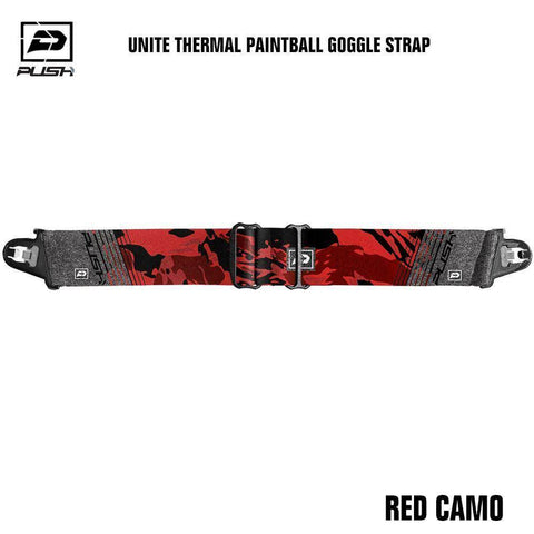 Push Unite Paintball Goggle Mask Strap - Red Camo - PaintballDeals.com