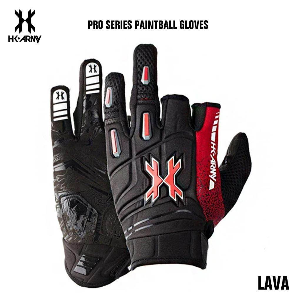 HK Army Pro Paintball Gloves - Lava - PaintballDeals.com