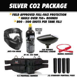 Maddog Azodin Blitz 4 Package Silver Paintball Gun Starter Kit