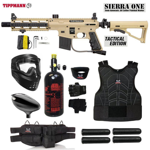 Maddog Tippmann Sierra One Starter Protective HPA Paintball Gun Package