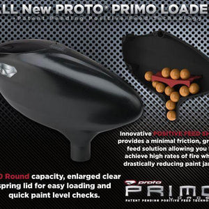 Proto Primo Gravity Fed Paintball Loader - Black