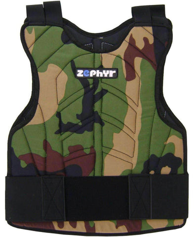 Zephyr Tactical Padded Paintball Chest Protector - Camo