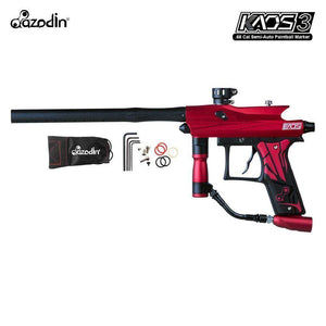 Azodin Kaos 3 Semi-Automatic .68 Caliber Paintball Gun Marker - Red / Black