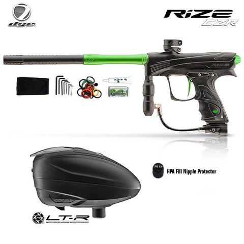 Dye Rize CZR Paintball Gun with Dye LT-R Paintball Loader Combo Package