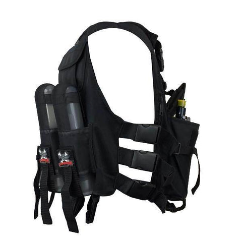 Maddog Lightweight Tactical Paintball Sport Vest | Holds 4 Pods & Tank Up to 90ci
