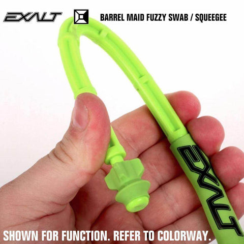 Exalt Paintball Barrel Maid Fuzzy Swab Squeegee - Toxic - Lime / Black