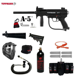 Tippmann A-5 Maddog Elite Remote CO2 Paintball Gun Package