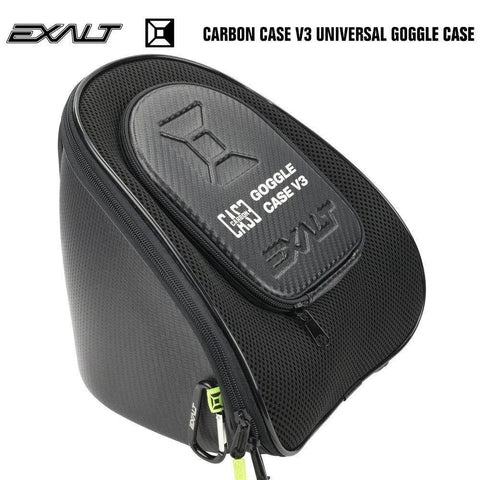 Exalt Carbon Universal Paintball Goggle Mask Microfiber Travel Case V3