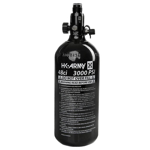 Maddog HK Army 48ci/3000psi Compressed Air HPA Paintball Tank with Quick Disconnect Remote Coil and Fill Nipple Protector Combo