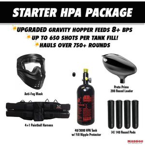 Tippmann Cronus Tactical Starter HPA Paintball Gun Package