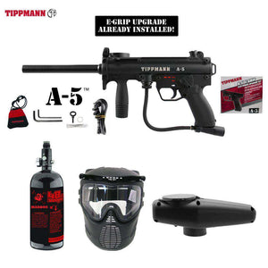 Tippmann A-5 Beginner HPA Paintball Gun Package