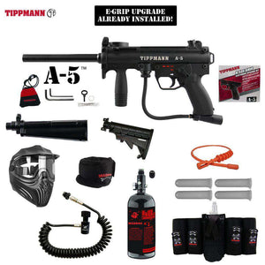 Tippmann A-5 Maddog Elite Remote HPA Paintball Gun Package