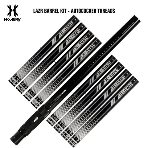 HK Army LAZR Paintball Barrel Kit - Autococker Threads - Black Inserts