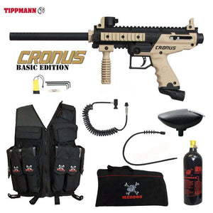 Tippmann Cronus Tactical Maddog Lieutenant Attack Vest Paintball Gun Package