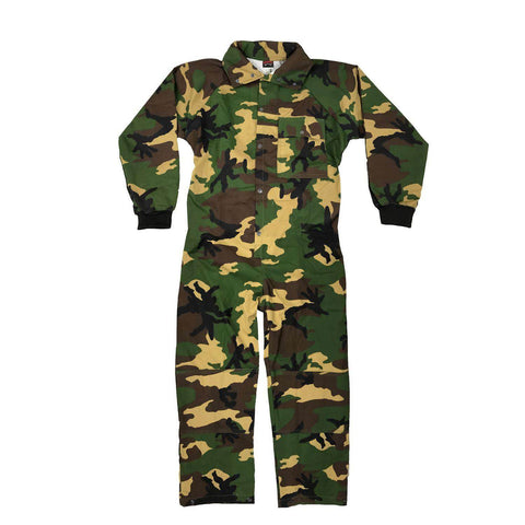 CLEARANCE - Maddog Tactical Paintball Rip Stop Coverall Jumpsuit - Woodland Camo - Small - OPEN BOX