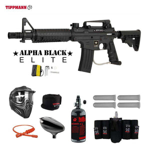 Tippmann U.S. Army Alpha Black Elite Tactical Maddog Elite HPA Paintball Gun Package