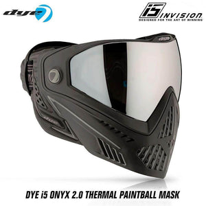 Dye I5 Thermal Paintball Mask Goggles with GSR Pro Strap - Onyx Black / Grey - PaintballDeals.com