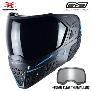 Empire EVS Thermal Paintball Mask - Black / Navy Blue - PaintballDeals.com