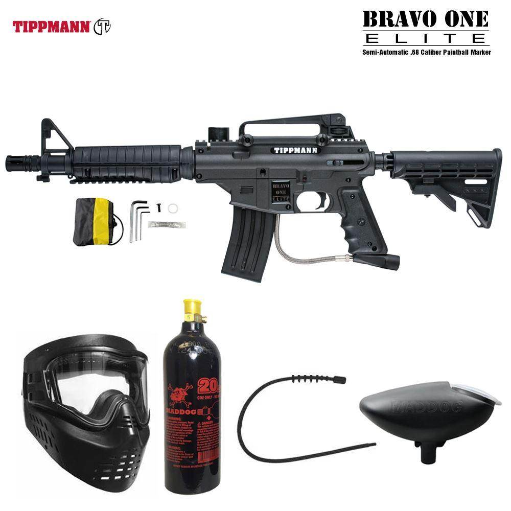 Maddog Tippmann Bravo One Elite Tactical Bronze Paintball Gun Package