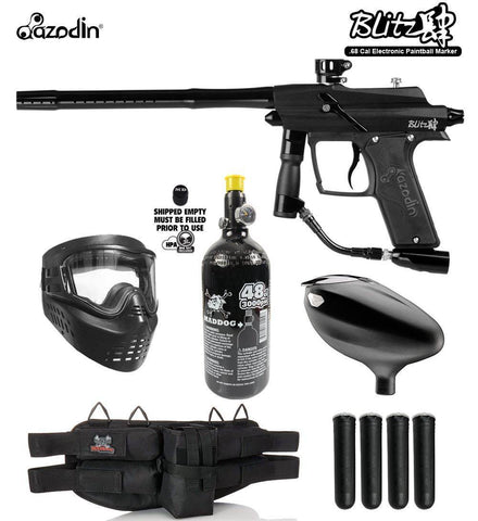 Maddog Azodin Blitz 4  Electronic Starter HPA Paintball Gun Package